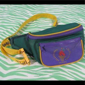 Vtg 1996 Atlanta Olympics FANNY PACK multicolor